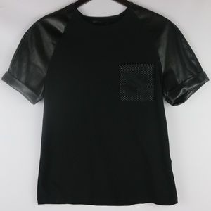 SONS OF HEROES | LEATHER SLEEVE TEE